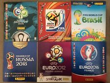PANINI ALBUMS WORLD CUP 2010/2014/2018/EURO`S 2012/2016/WOMENS WORLD CUP 2019