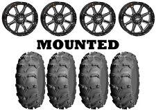 Kit 4 ITP Mud Lite XL Tires 26x9-12/26x10-12 on STI HD4 Gloss Black Wheels IRS