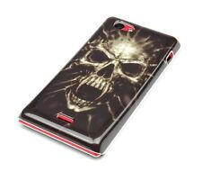 Custodia Protettiva F Sony Xperia J st26i Case Cover Borsa Teschio Skull morto dead
