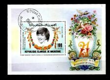 Mauritania 1982 Birthday Princess Diana, Roses S/S  CTO