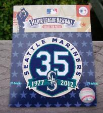 Official MLB Seattle Mariners 35th Anniversary Patch 1977 - 2012