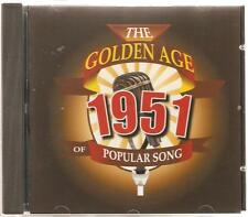 THE GOLDEN AGE OF POPULAR SONG 1951 CD - BE MY LOVE, SHANGHAI & MORE