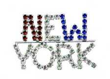 NEW YORK - Crystal Jewelry Pin
