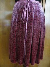 French Connection women's soft viscose silk multicolored  skirt  Size 10 NWT