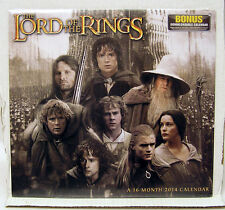 2014 LOTR LORD OF THE RINGS 16 Month Calendar- NEW!! (LOTRCA01)