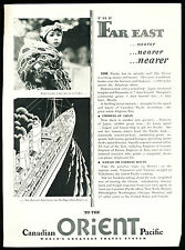 'To the Orient' One-Page Advertising Flyer - Canadian Pacific - White Empresses
