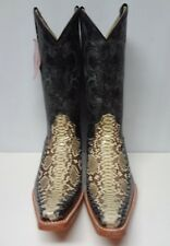 New Men'S Real Python Snake Skin Genuine Leather Cowboy Boots Rodeo Western C111