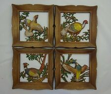 Syroco Pheasant/ Duck Game Bird Hunter's Wall Art Home Decor ~ Lot of 4 ~ 1963