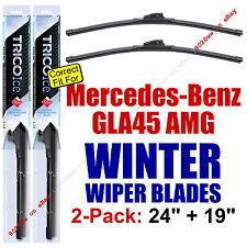 WINTER Wiper Blades 2pk Premium - fit 2015 Mercedes-Benz GLA45 AMG - 35240/190