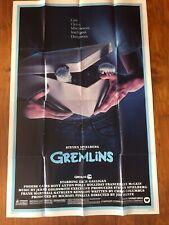 1984 Gremlins 27x41 Original Movie Poster Steven Spielberg Folded