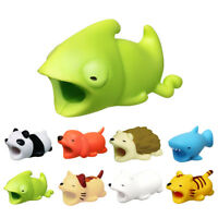 Cartoon Phone Charger Protector Soft Cord Cute Animal Cable Bite Accessories OW