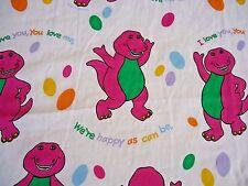 Barney Twin Flat Sheet 1992