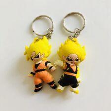 2pcs Dragon Ball son gokou PVC key chain ornament key chains figure cute