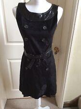 Richmond Denim, Black Dress, Size 42, Uk 10, New With Tag