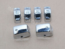 6 PCS Chrome Control Switch Button Cap Kit For 2011-2016 Harley Dyna Softail XL