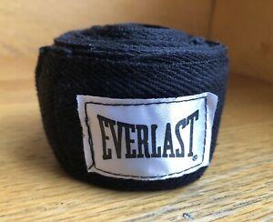 "EVERLAST Classic 120"" Hand Wraps Boxing MMA Sports Training Gym Fitness BLACK"