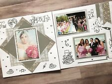 Wedding Pages, Silver Wedding Scrapbook Pages, Silver Wedding Layouts