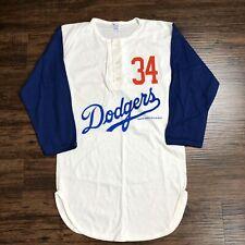VTG 80s Champion T Shirt Raglan Sz M Henley 34 Fernando Valenzuela Dodgers MLB