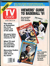 TV Guide Magazine April 6-12 1991 Viewers' Guide To Baseball EX 022616jhe2