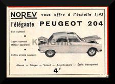 Pub/advertising ad norev peugeot 204 vintage years 60