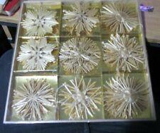 Large 30 Piece Straw Xmas Decoration Set