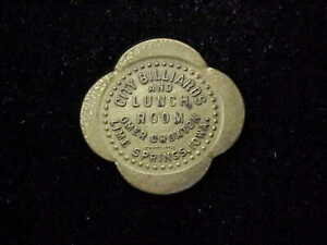 Lime Springs, IA City Billiards & Lunch Room rare Iowa town merchant trade token