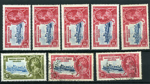 British Solomon Islands 1935 Silver Jubilee remainders LMM and used