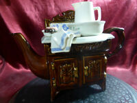 Paul CARDEW Collectible novelty VICTORIAN WASHSTAND TEAPOT Wash Stand Tea Pot