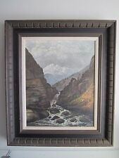 HOWARD A. STREIGHT Masterpiece Landscape Painting 19th c. Signed ORIGINAL!
