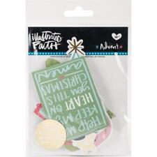 Illustrated Faith Advent Foiled Paper Pieces Die-Cuts Ephemera Shapes - NEW