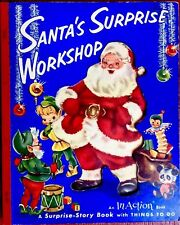 Santa's Surprise Workshop Book Vintage 1953 Catherine Stahlmann An In Action Boo