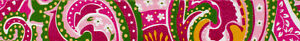Country Brook Design® 1 Inch Pink Paisley Polyester Webbing, 10 Yards