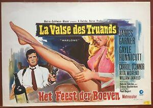 Poster Belgian The Waltz Of Mobsters Marlowe James Garner Film-Noir 1969