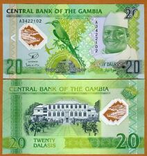 Gambia, 20 Dalasis, 2014 (2015), Polymer, P-30, UNC > Commemorative