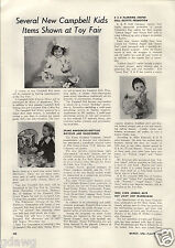 1956 PAPER AD Toy Campbell Kids Electric Mixer Dolls R&B Comapny Littlest Angel
