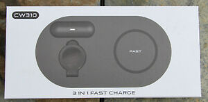 CW310 3-in-1 Wireless Fast Charging Station for Apple or Samsung
