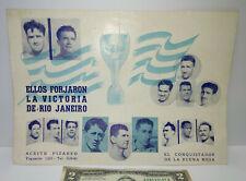 Very rare Uruguay advertising Football players 1950 Brazil Maracana IV World Cup