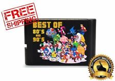 196 in 1 Multi Cartridge Games For Sega Genesis Mega Drive PAL NTSC Console