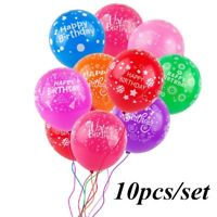 """10pcs 12"""" Happy Birthday Balloons Kids Wedding Baby Shower Party Decorations"""