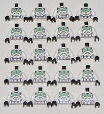 Lego Lot of 20 NEW STAR WARS MINIFIGURE TORSOS CLONE TROOPER SAND GREEN MARKINGS