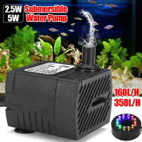 Submersible Water Pump With 12 LED Light For Fountain Pool Garden