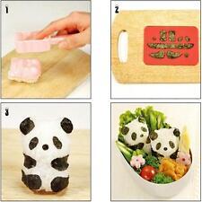 1 set DIY Outil Panda Moule à Riz Sushi Onigiri nori bricolage maker moule bento