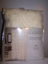 "Carnation Carmen Crushed Voile Ruffled Tier Shower Curtain 70""x72"", Ivory"