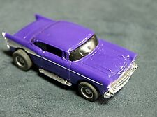 Tyco HO Slot Car Purple 57' Chevy Nice Running Chassis