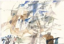 Jacqueline Kiang aquarelle abstraite abstraction 1990