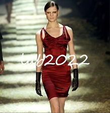 bccdbac8a Gucci Tom Ford Gorgeous Claret Stretch Silk Corset Dress With Matching  Corset