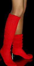 Red Slouch Knee Socks Christmas Lingerie Scrunchie Large Hooters uniform sexy