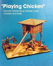 Jaguar Models 1/35 Playing Chicken (2 resin figs + chicken coop & Base) - 63614