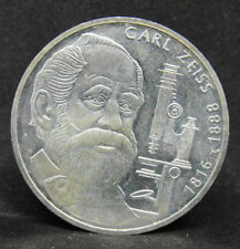 GERMANY 10 MARK 1988 F  CARL ZEISS  SILVER COIN   #1032