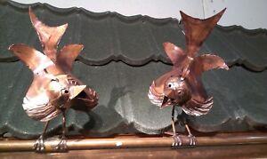 Dachschmuck Spatzen  Vögel  Kupfer Dachrinne Unikat Handarbeit Dachrinne NEU